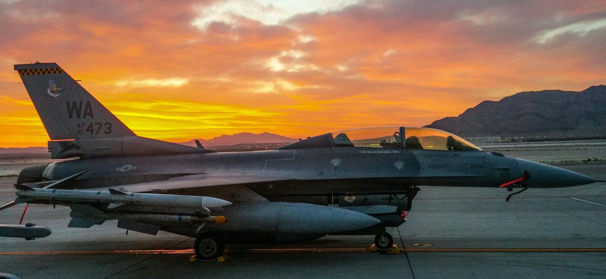 F16 at Sunset